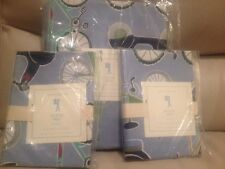 3pc POTTERY BARN KIDS Bicycle Bike Duvet Standard Shams F Q Full Queen NWT more