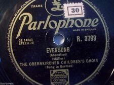 "THE OBERNKIRCHEN CHILDREN'S CHOIR ""The Happy Wanderer / Evensong"" Parlophone 10"""