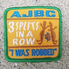 Three Splits In A Row AJBC Embroidered Sew On Patch American Junior Bowling
