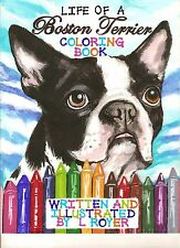 BOSTON TERRIER COLORING BOOK #5 AUTHOR ARTIST ILLUSTRATOR L ROYER AUTOGRAPHED