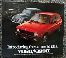 Yugo Auto/Car Brochure 1985 Introducing The Same Old Idea $3990 Mfg Sugg Price