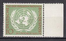 BRD 1955 MER. n. 221 post fresco con bordo pagina TOP!!! (21533)
