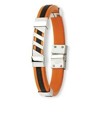 New Stainless Steel Orange and Black Bracelet - Harley, SF Giants, Greek Key