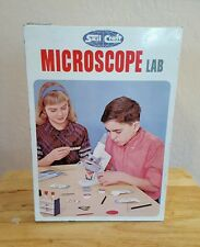 Vintage 1960's Skil Craft Microscope Lab with metal case