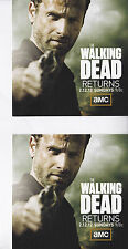 THE WALKING DEAD AMC TV SET OF TWO PROMOTIONAL STICKERS