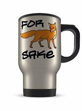 14oz For Fox Sake Funny Novelty Gift Aluminium Travel Mug