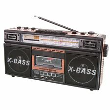 SuperSonic Retro Collection Boom Box with AM/FM/ SW-1 - SW2 4-band Radio