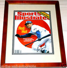 ICHIRO SUZUKI HAND SIGNED AUTOGRAPHED FRAMED SPORTS ILLUSTRATED MAG W/PROOF+COA!