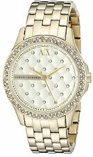 Armani Exchange Women's AX5216 'Smart' Crystal Gold-Tone Stainless steel Watch