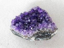 AMUS4) Amethyst Uruguayan A Grade Dark Purple Geode Quartz Crystal Gift