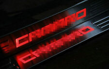 Stainless LED Light Door Sill Plate Guard Scuff Cover For Chevrolet Camaro 10-15