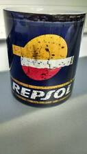 NEW Retro Vintage Repsol Oil Mugs - Tin / Can - Motorcycle Car Mechanic Coffee