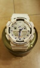 CASIO G-Shock Men's Analog Digital White Strap Watch GA100A