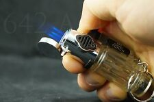 1x Triple Jet Torch Adjustable Flame Butane Refillable On Lock Lighter