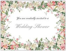 25 Romantic FLORAL Country Vintage Bridal WEDDING Shower INVITATIONS & ENV Seals