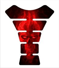 Ice Skull Red Motorcycle 3d Gel Gas tank pad tankpad protector Decal Sticker