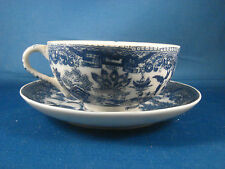 Blue Willow Cup And Saucer Marked Made In Japan