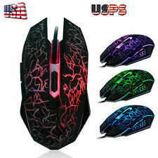 4000 DPI 6D LED Optical USB Pro Gaming Wired Mouse For Laptop PC Gamer Desktop