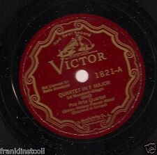 Pro Arte Quartet on 78 rpm Victor 1821/1822: Quartet in F (Rieti)