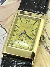 Extremely rare Longines cal 25.17  1930s  14k Solid Gold .The only one on Ebay