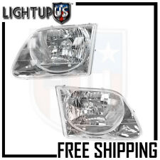 Headlights Headlamps Pair Left right set for 01-03 Ford F150 Lighting Models