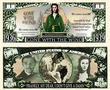 Gone With the Wind Million Dollar Bill Collectible Funny Money Novelty Note