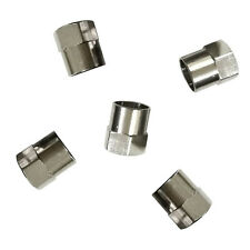 5 Pcs Auto Car Chrome Tyre Tire Dust Caps Wheel Air Valve Stem Screw Cover Lid