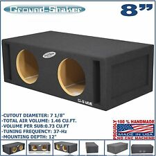 "8"" DUAL VENTED SLOT PORTED SUB BOX 37HZ SUBWOOFER ENCLOSURE GROUND-SHAKER"