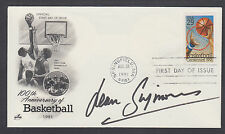 Jean Simmons, British film actress, signed basketball FDC