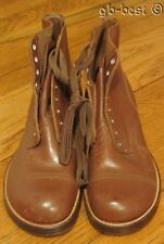Vintage c 1940s Brown Leather WORK WEAR Boots Shoes NICE 7
