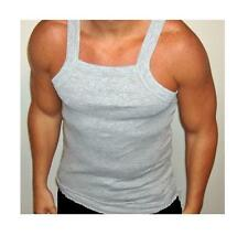 "1-Gray ""G-Unit Style!"" Tank Top Square Cut Undershirt Underwear Wife Beater XL"