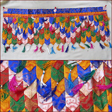 SILK BROCADE MULTI PANEL COLORED DOOR WINDOW CURTAIN TIBET NEPAL