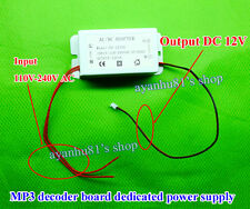 AC/DC 110V-240V 220V to DC 12V 1A Power Supply Adapter for MP3 Decoder Board