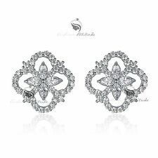 18k white gold gf genuine SWAROVSKI crystal stud earrings fashion attitude