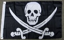 CALICO JACK RACKHAM  FLAG 2X3 PIRATE JOLLY ROGER 2'X3'  F1105