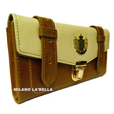 Tan LYDC Designer Womens Celebrity Vintage Satchel Purse Wallet Boxed 4 colors