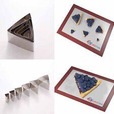 "Triangle Shape Steel Cookie Cake Fondant Cutter 1"" deep set of 6"