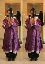 PURPLE FLOATY FAIRY LONG TUNIC DRESS Plus Size 20 22 24 Gothic Lagenlook Baggy