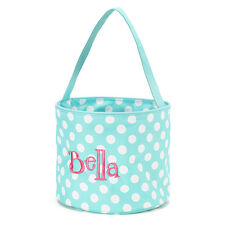 WB Easter Toy Bucket Aqua Blue with White Dots NWT