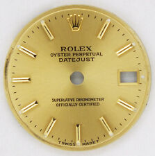 Ladies Original Champagne Rolex Oyster Perpetual Datejust Dial.