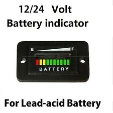 LED 12V 24V CAR Lead-Acid Battery Status Charge Indicator Monitor Tester Meter