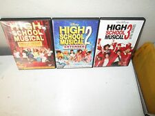 Disney's HIGH SCHOOL MUSICAL 1 , 2 & 3 rare Trilogy dvd Set ZAC EFRON Tisdale