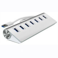 7 Port USB 3.0 External HUB Verteiler Splitter Adapter Für Laptop PC Macbook
