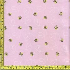Winnie the Pooh Honey Bee Trail 100% Cotton Pink Fabric 1/4 yd 22.5 cm off bolt