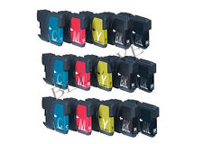 15 CARTUCCE STAMPANTE PER BROTHER LC980 LC1100 MFC 250C 290C DCP 375CW 195C 163C