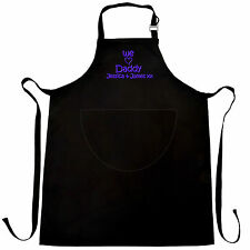 Personalised Fathers Day Gift Apron * I or WE LOVE DADDY or GRANDAD + Kids Names