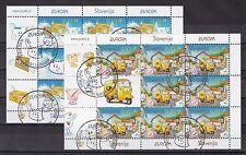 Slowenien 2008 gestempelt Kleinbogen MiNr. 682-683  Europa: Der Brief