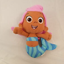 """Fisher Price BUBBLE GUPPIES MOLLY MERMAID 8"""" Plush Stuffed Doll Pink Blue Toy"""
