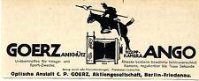 Optische Anstalt C. P. Goerz Berlin- Friedenau Ango Klapp Kriegsreklame 1917