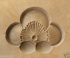 ANTIQUE JAPANESE Small KASHIGATA Wooden Cake Mold w/Cover - UME Plum Flower